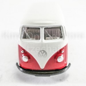 Welly 1:60 Die-cast 1963 Volkswagen T1 Bus Red Color Model Collection New Gift