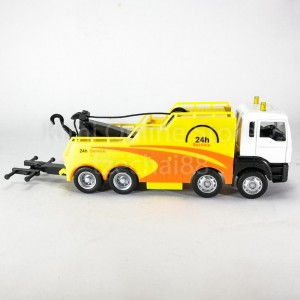 DSM 1:64 Die-Cast MAN Tow Truck White Yellow Color Model Collection New Gift