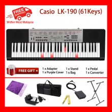 61 Key Casio LK-190 Electronic Keyboard Piano Organ Lighting System Polyphony 48
