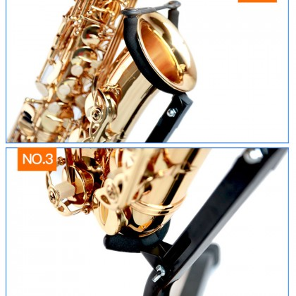 Sou Floor Stand Specially Designed For Alto Or Tenor Saxophone With 3 Metal Legs Durable Stable