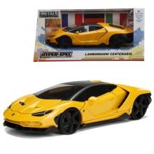 Jada 1:24 Hyper Spec Die-Cast Lamborghini Centenario Car Yellow Model Collection