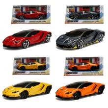 Jada 1:24 Hyper Spec Die-Cast 4 in 1 Set Lamborghini Centenario Car Model Collection