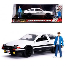 Jada 1:24 Die-Cast Hollywood Rides Toyota Trueno AE86 & Takumi (Initial D) Car Model Collection