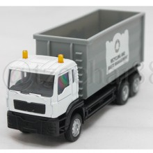 Affluent Town 1:64 Diecast Recycling and Waste Management Truck White Model