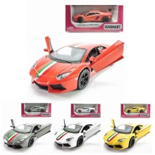 Kinsmart 1:38 Die-cast Lamborghini Aventador LP 700-4 w Printing Car Model with Box Collection