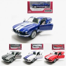 Kinsmart 1:38 Die-cast 1967 Shelby GT500 Car Model with Box Collection
