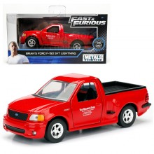Jada Fast & Furious 1:32 Diecast Brian's Ford F-150 SVT Lightning Car Red Model Collection