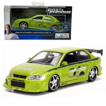 Jada Fast & Furious 1:32 Diecast Brian's Mitsubishi Lancer Evolution VII Car Green Model Collection