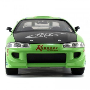 Jada 1:24 Fast & Furious Die-Cast Brian's Mitsubishi Eclipse Car Green Model Collection