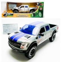 Jada 1:24 20th Anniversary Die-Cast 2011 Ford F-150 SVT Raptor Just Trucks Car Silver Model Collection