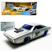 Jada 1:24 20th Anniversary Die-Cast 1970 Dodge Charger R/T Fast & Furious Car Silver Model Collection
