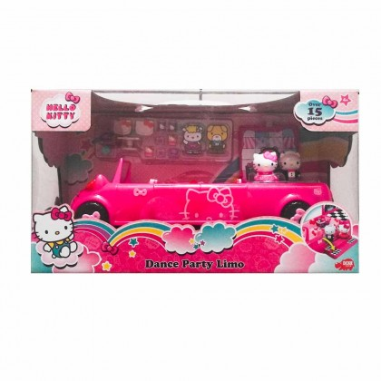 Dickie Toys Hello Kitty Dance Party Limo Set Die-cast Genuine License Product Pink Model Collection Christmas New Gift