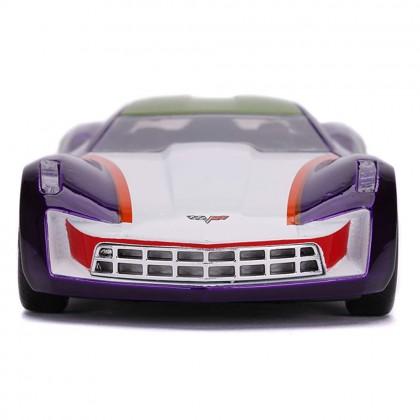 Jada 1:32 Diecast Hollywood Rides DC Comics The Joker's 2009 Chevy Corvette Stingray Car Purple Model Collection