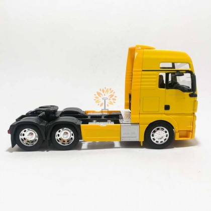Welly 1:32 Die-cast MAN TGX 6 x 4 Wheel Tractor Truck Model Yellow with Box Collection Christmas New Gift