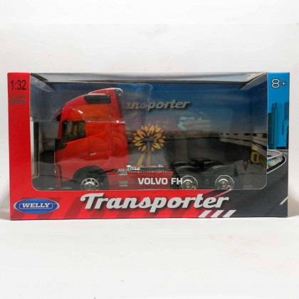 Welly 1:32 Die-cast Volvo FH 6 x 4 Wheel Tractor Truck Model Red with Box Collection Christmas New Gift