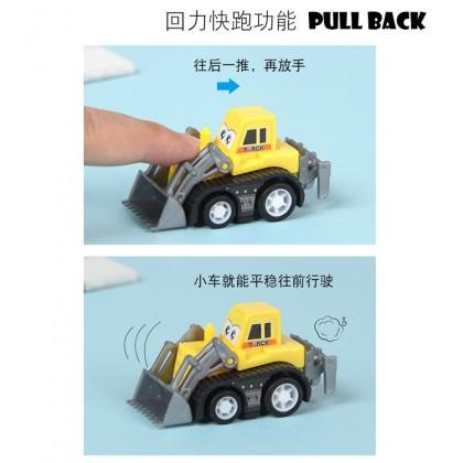 1 pcs Mini Figure Car Truck Toy Pull Back Fire Truck Construction Vehicle Model New Gift Children