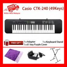 49 Key Casio CTK-240 Standard Keyboard Piano 100 Tones 100 rhythms 50 Song LCD Melody (on/off)