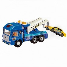 Daesung Police Vehicle Rescue Wrecker Truck Friction Toys Model Made in Korea Door Open-able DS-954