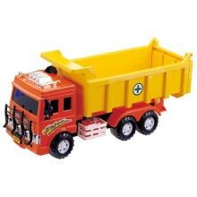 Daesung Friction Toys Dump Truck Orange Yellow Made in Korea DS-803